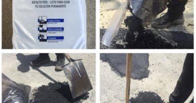 Lanzan asfalto frío, listo para usarse y vender en ferreterías
