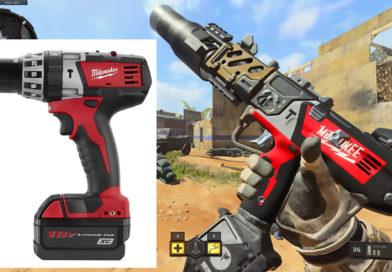 Personalizan armas de Call of Duty: Black Ops 4 inspirándose en taladros